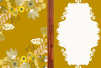 Beautiful Floral Vector Card Template Eps, Svg, Ai File throughout Free Svg Card Templates