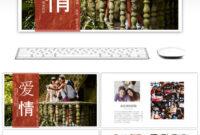 Beautiful Love Album Wedding Wedding Dynamic Album Ppt pertaining to Powerpoint Photo Album Template
