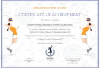 Beautiful Volleyball Certificate Templates – Superkepo for Soccer Certificate Templates For Word