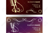 Beauty Salon And Hairdresser Business Card Template Vector regarding Hairdresser Business Card Templates Free