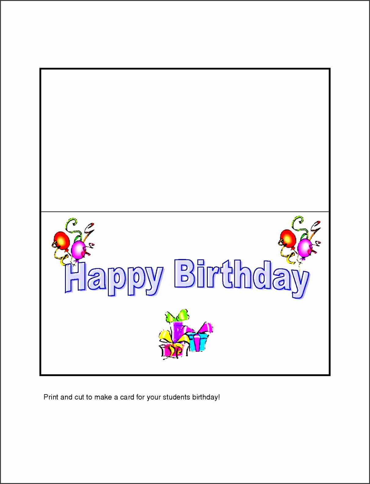 Best 22 Microsoft Word Birthday Card Templates – Birthday For Birthday Card Template Microsoft Word