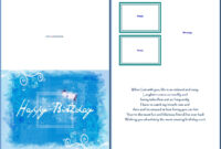 Best 22 Microsoft Word Birthday Card Templates – Birthday Within Birthday Card Template Microsoft Word