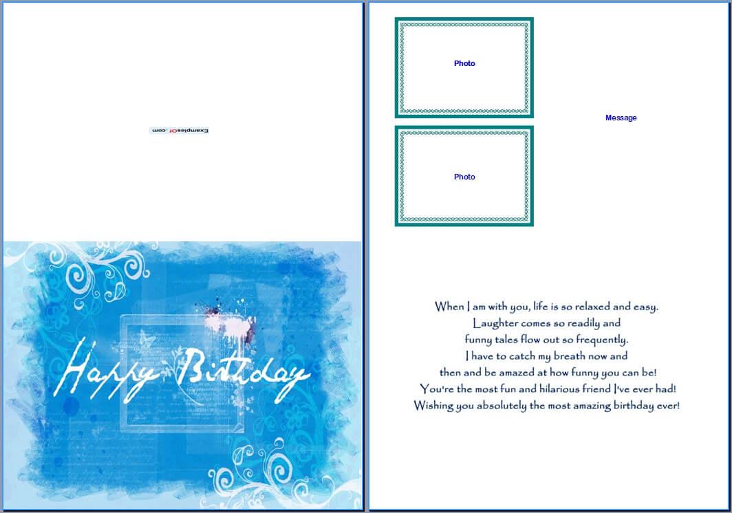 Best 22 Microsoft Word Birthday Card Templates – Birthday Within Birthday Card Template Microsoft Word