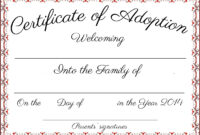 Best Free Printable Adoption Papers   Bates's Website inside Blank Adoption Certificate Template