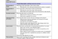 Best Lessons Learned Report Lovely Lessons Learnt Report in Lessons Learnt Report Template