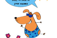 Best Of Luck In Your Exams – Good Luck Card (Free   Good With Good Luck Card Template