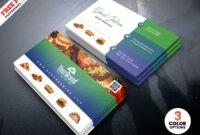 Best Restaurant Business Card Psd | Psdfreebies pertaining to Restaurant Business Cards Templates Free
