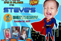 Best Superman Birthday Theme Tarpaulin | Superman Birthday inside Superman Birthday Card Template