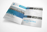 Bi Fold A4 Brochure Left & Right Panels Psd Mockup – Psd Mockups in Two Fold Brochure Template Psd