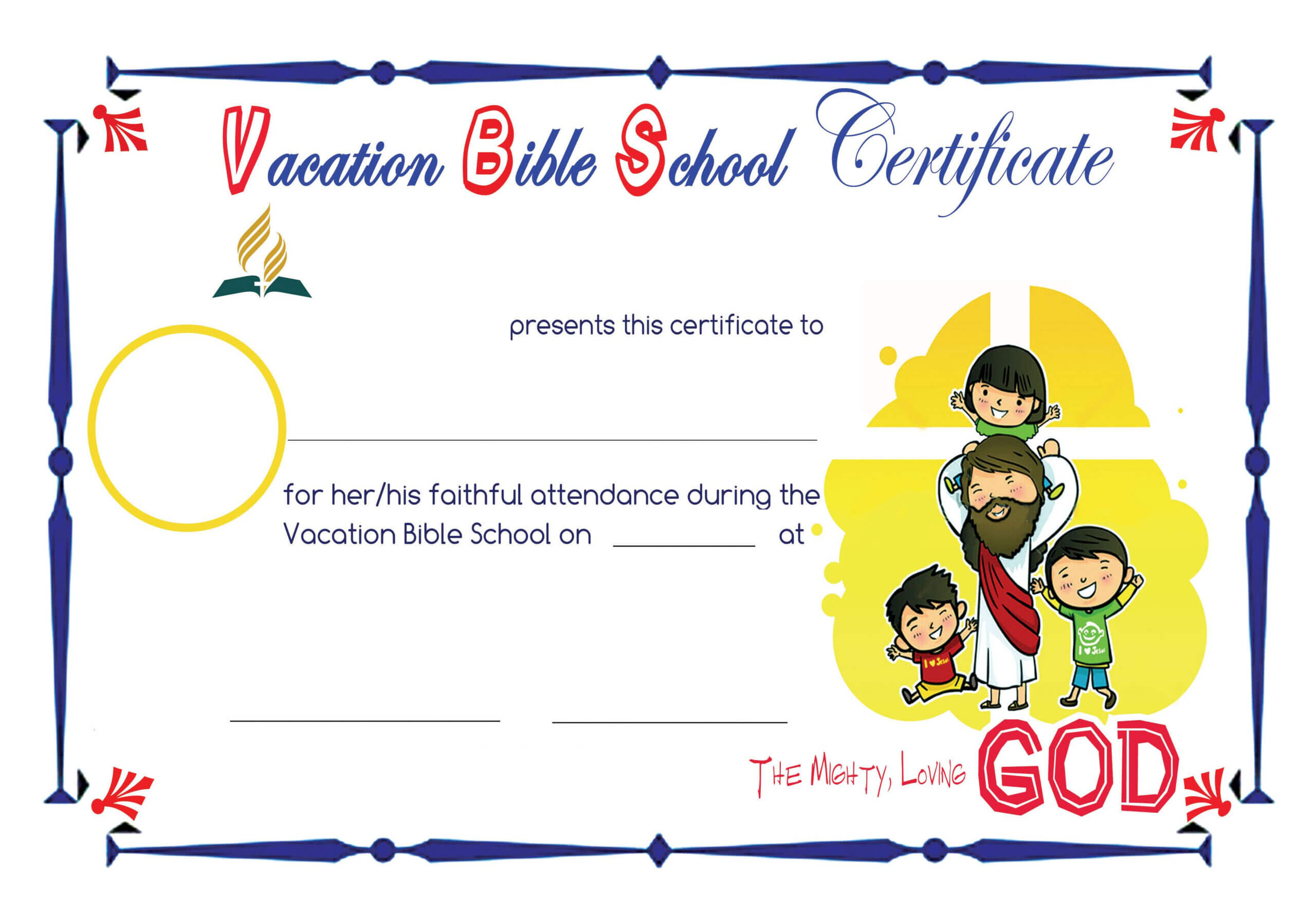 Bible School Certificates Pictures To Pin On Pinterest For Christian Certificate Template