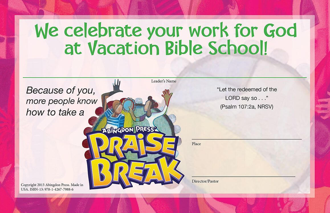 Bible School Certificates Pictures To Pin On Pinterest Within Vbs Certificate Template