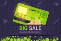 Big Sale For St. Patrick's Day Holiday Poster Template Credit.. regarding Credit Card Templates For Sale