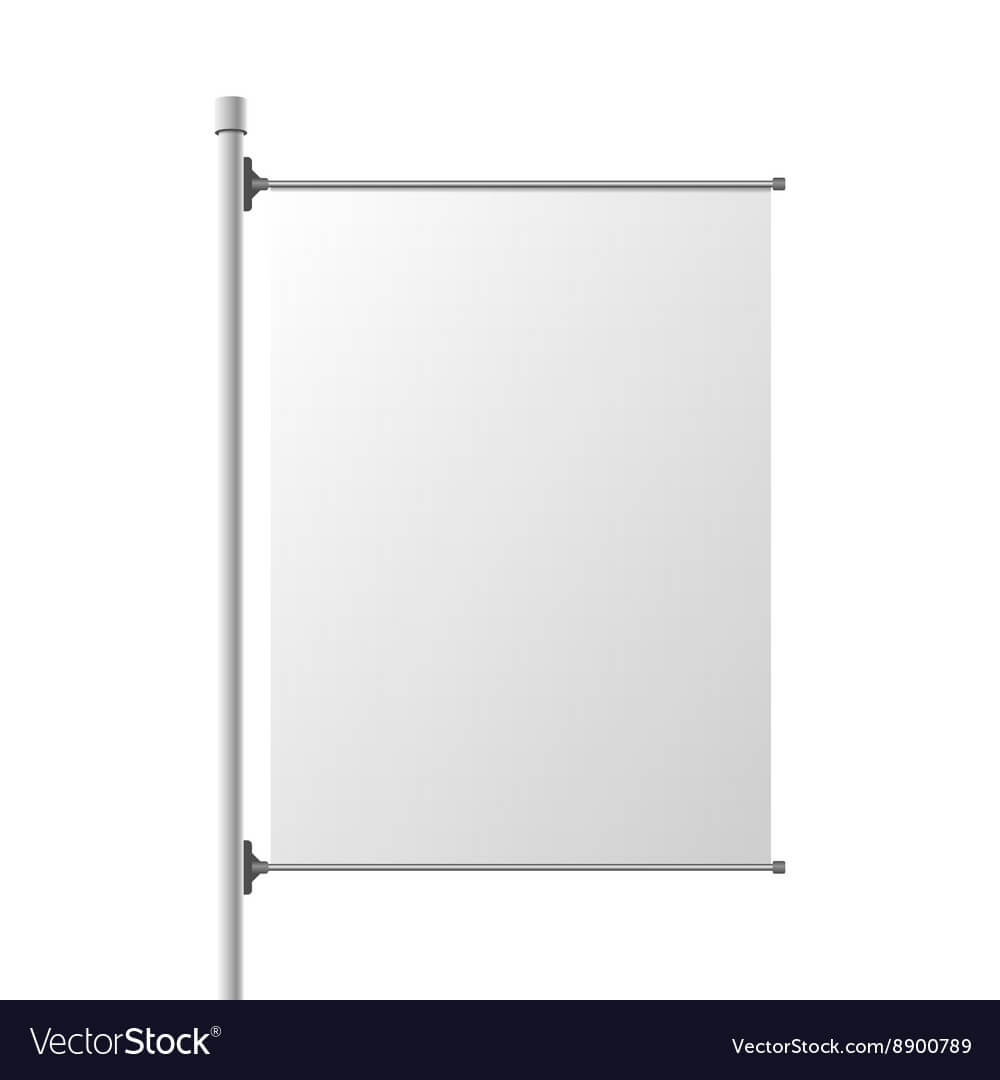 Big Street Banner Realistic Template For Street Banner Template