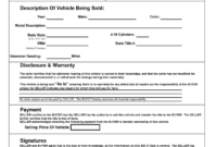 Bill Of Sale Motor Vehicle Template | Bill Of Sale Template for Car Bill Of Sale Word Template