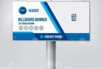 Billboard Design, Template Banner For Outdoor Advertising in Outdoor Banner Design Templates