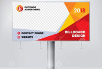 Billboard Design, Template For Outdoor Advertising, Modern throughout Outdoor Banner Design Templates