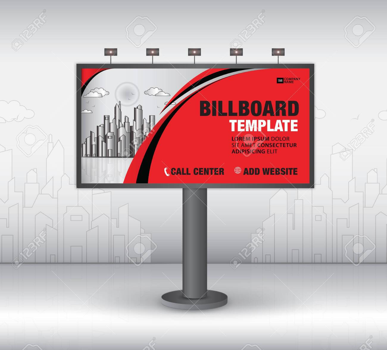Billboard Design Vector, Banner Template, Advertisement, Realistic.. For Outdoor Banner Template