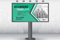 Billboard Design Vector, Banner Template, Advertisement, Realistic.. within Outdoor Banner Template