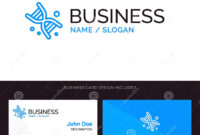 Bio, Dna, Genetics, Technology Blue Business Logo And for Bio Card Template