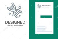 Bio, Dna, Genetics, Technology Grey Logo Design And Business intended for Bio Card Template