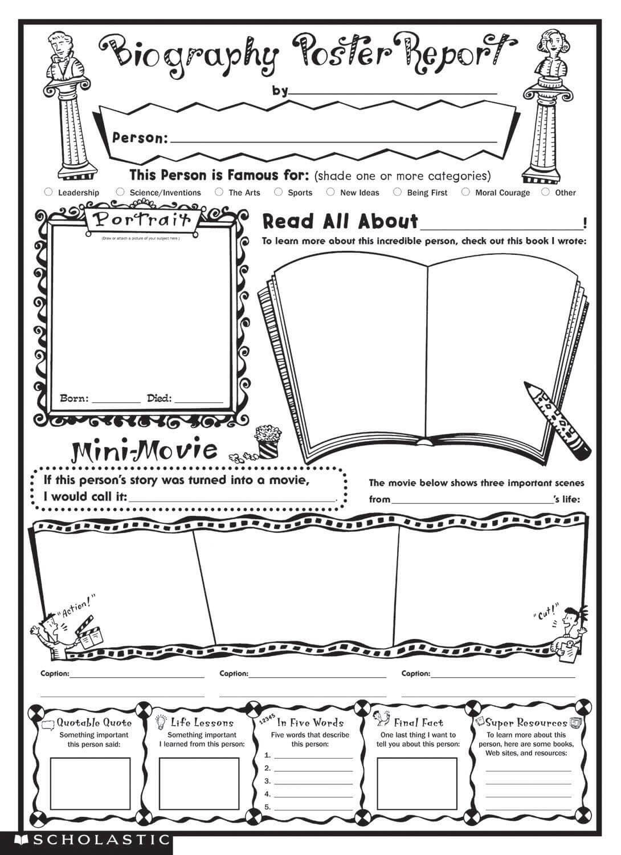 Biography Book Report Template |  Biography Report Pertaining To Biography Book Report Template
