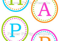 Birthday Banner Letters Template] Free Printable Happy intended for Free Printable Happy Birthday Banner Templates