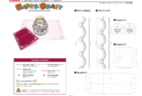Birthday Cake Pop Up Card Template   Pop Up Card Templates Pertaining To Printable Pop Up Card Templates Free