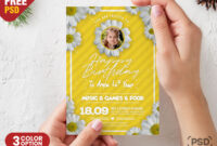 Birthday Card Design Psd Template – Psd Zone throughout Photoshop Birthday Card Template Free