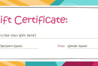 Birthday Gift Certificate Template Free Printable pertaining to Printable Gift Certificates Templates Free