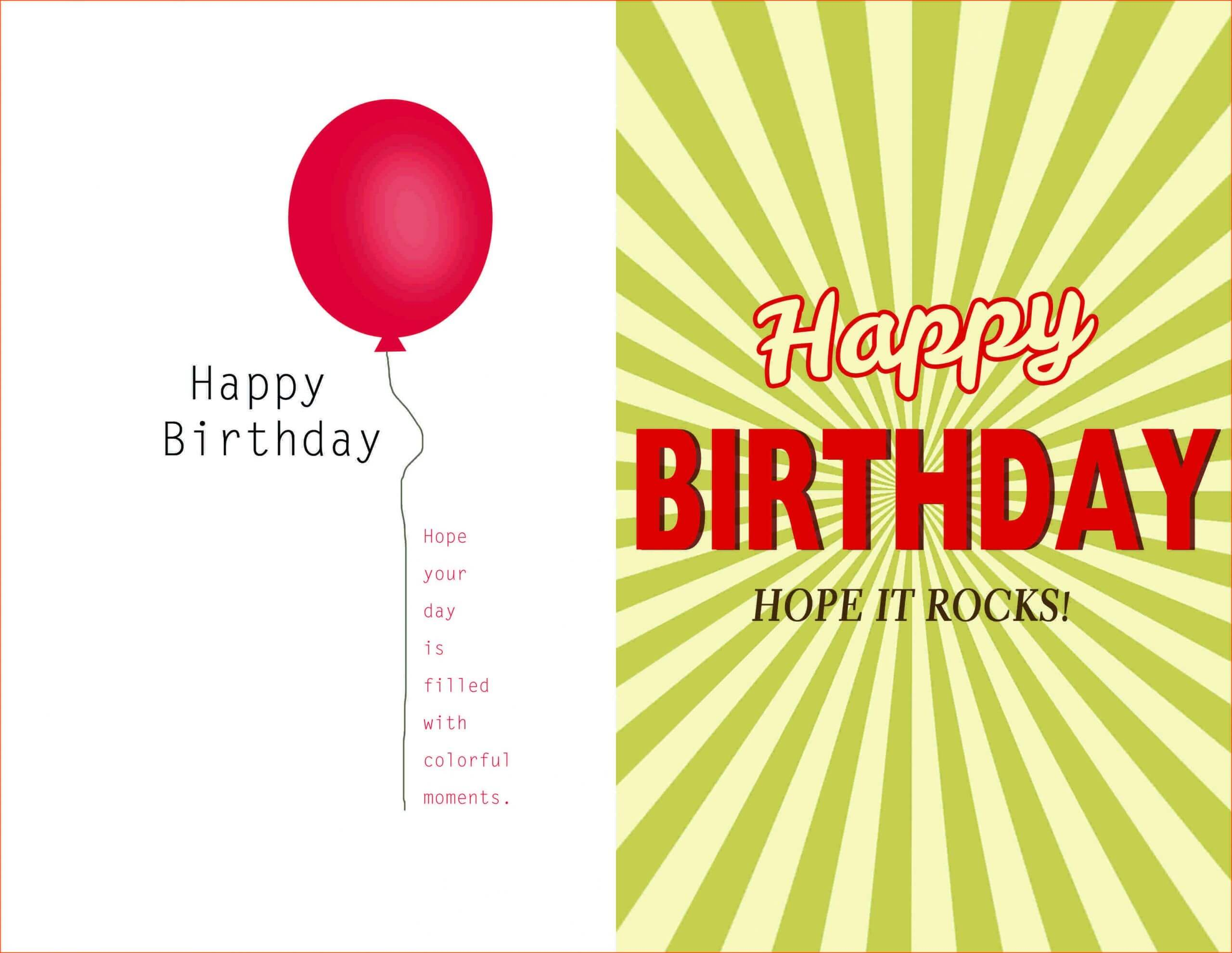 Birthday Invitation Template Quarter Fold | Invitation Within Blank Quarter Fold Card Template