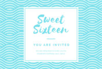 Birthday Party Invitation – Banner Template for Sweet 16 Banner Template