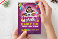 Birthday Party Invitation Card Design Psdpsd Freebies On For Photoshop Birthday Card Template Free
