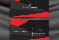Black And Red Business Card Template With Throughout Buisness Card Template