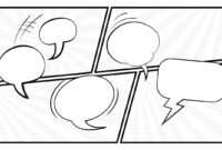 Black And White Comic Layout Powerpoint Template within Powerpoint Comic Template
