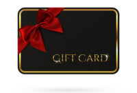 Black Gift Card Template With Red Ribbon And A Bow throughout Gift Card Template Illustrator