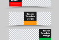 Black Horizontal Web Banner Templates With Photo in Website Banner Templates Free Download