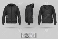 Black Sweatshirt Hoodie Template Stock Vector – Illustration with Blank Black Hoodie Template