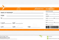 Blank Airline Ticket – Free Download with regard to Plane Ticket Template Word