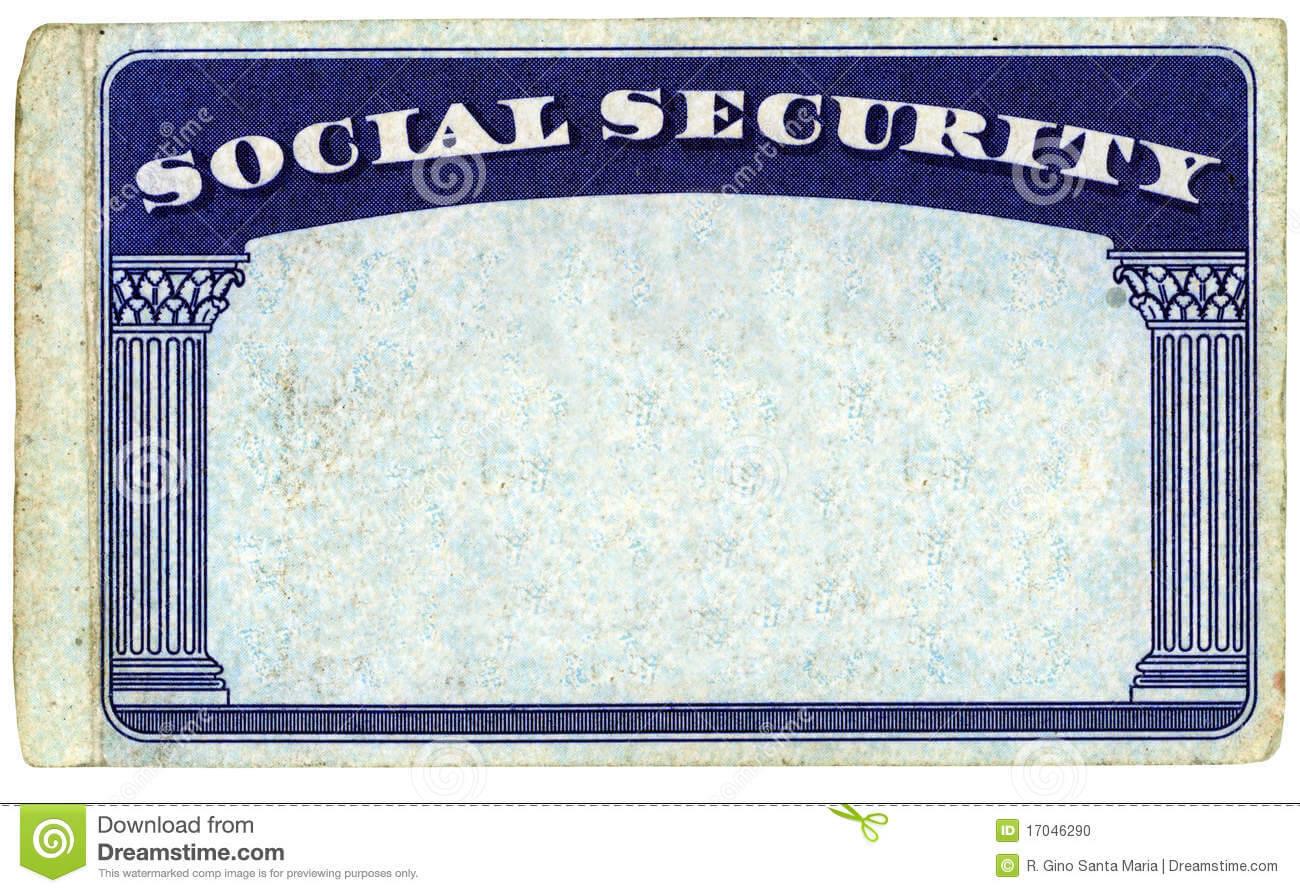 Blank American Social Security Card Stock Photo - Image Of In Blank Social Security Card Template