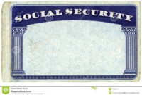 Blank American Social Security Card Stock Photo – Image Of with regard to Ss Card Template