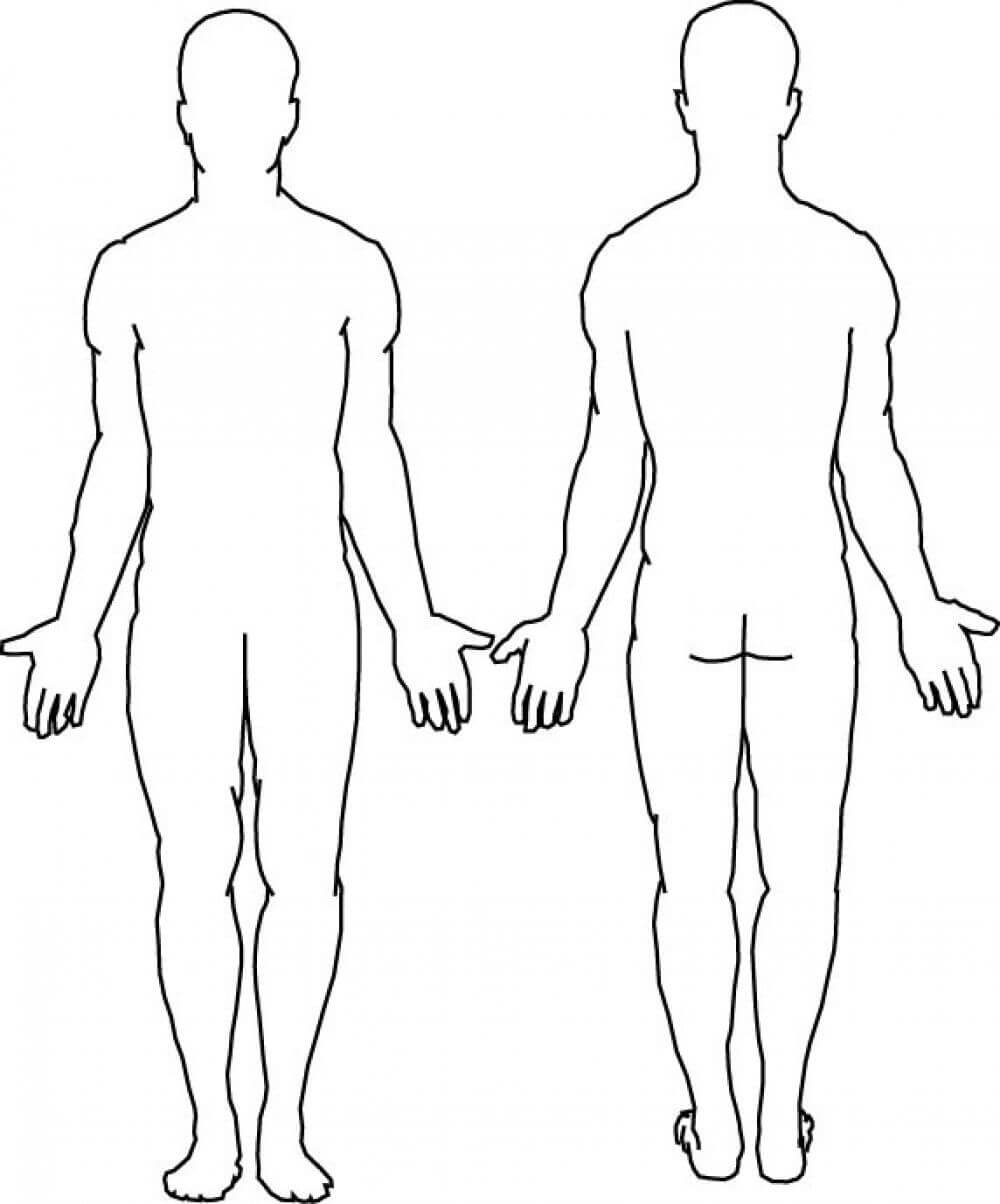Blank Body | Body Template, Body Outline, Body Diagram Intended For Blank Body Map Template