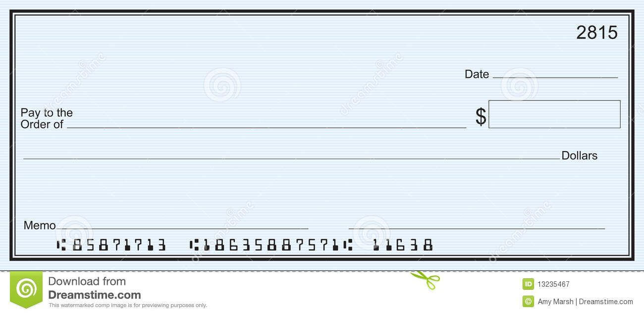 Blank Business Check Template | Templates Printable Free Within Blank Check Templates For Microsoft Word