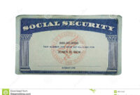 Blank Card Stock Photo. Image Of Paper, Social, Security with Ss Card Template