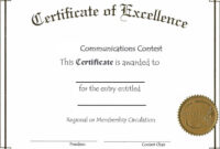 Blank Certificate Template For Best Solution | Certificate regarding Academic Award Certificate Template