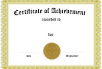 Blank Certificates For Printing – Ironi.celikdemirsan for Word Certificate Of Achievement Template