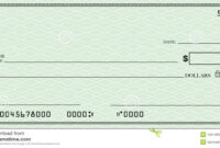 Blank Check With Open Space For Your Text Stock Illustration with regard to Large Blank Cheque Template