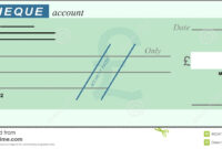 Blank Cheque Stock Vector. Illustration Of Chequebook with Blank Cheque Template Download Free