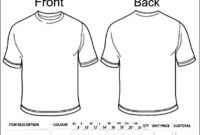Blank Clothing Order Form Template | Besttemplates123 regarding Printable Blank Tshirt Template