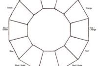 Blank Color Wheel Chart | Templates At Allbusinesstemplates intended for Blank Color Wheel Template