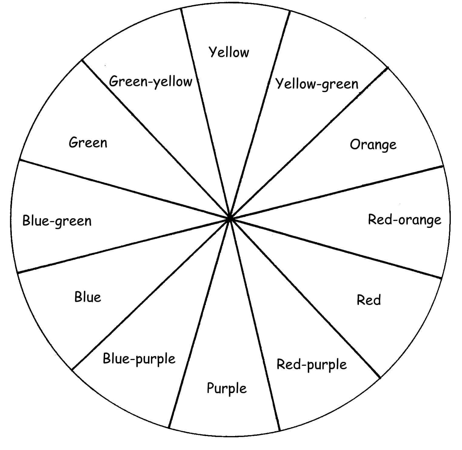 Blank Color Wheel Worksheet | Color Wheel Worksheet, Warm Within Blank Color Wheel Template